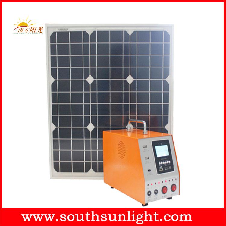 30W 直流输出太阳能发电系统 (带市电充电)