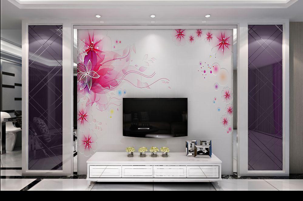 客厅电视背景墙:新古典客厅的设计,电视背景墙也是一大亮点,这个