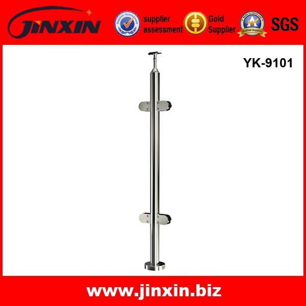 YK-9101不锈钢立柱 镜光 别墅护栏 玻璃护栏
