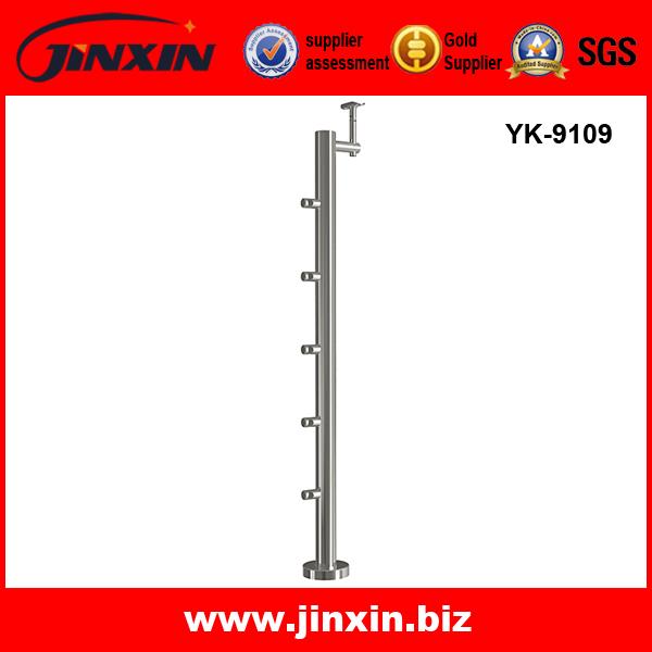 YK-9109 不锈钢立柱 楼梯栏杆 穿杆立柱