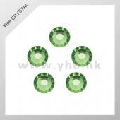 橄榄绿平底DMC烫钻 圆形DIY手工玻璃闪钻 服装贴钻 多型号可选