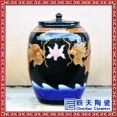 景德镇陶瓷酒坛子家用密封白酒罐仿古泡酒缸50斤30斤20斤10斤