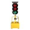 安丘太阳能移动红绿灯(三联箭头灯)移动信号灯太阳能
