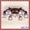 中国风茶馆过道小吊灯 创意餐厅镂空雕花复古灯具灯饰