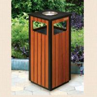 青岛钢木垃圾桶 加厚防锈