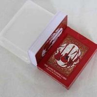 红色PVC塑料扑克牌定制印刷