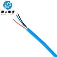 厂家定做ul2464过粉线 22awg 2芯屏蔽线电源插头线