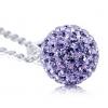 璀璨闪耀 925银奥地利水晶球 项链吊坠耳环 银饰