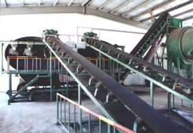 河北省盐山县汇东输送机械有限公司主要生产波状挡边带式输送机