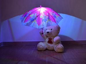发光雨伞的实际作用!