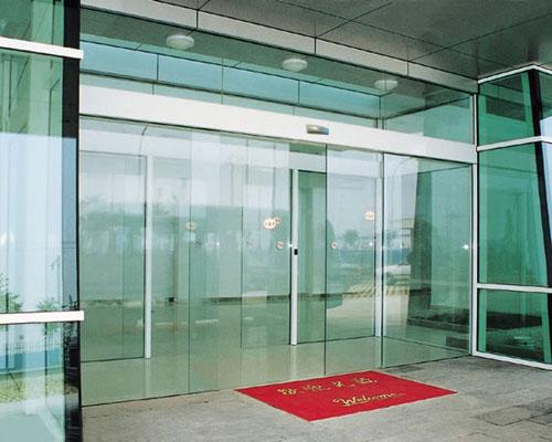 天津玻璃厂家,电动感应玻璃门价格,天津津达自动门
