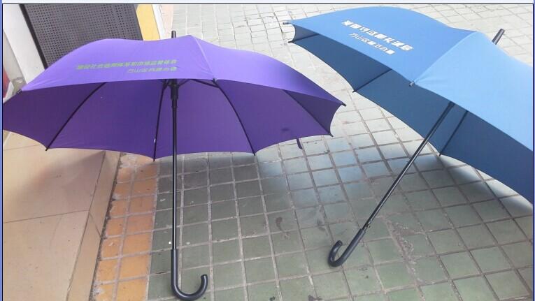 雨伞厂家珠海高品质订做LOGO23寸双骨直杆广告伞防紫外线