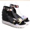 2015新款韩版夹脚平底鞋凉鞋坡跟鱼嘴夏季女鞋清凉系列