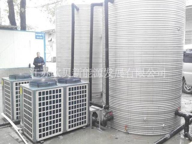 中铁建工南京工地20吨空气源热泵工程竣工