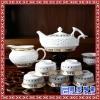 日用青花功夫茶具套装  生产手工陶瓷茶具价格  花鸟清淡茶具