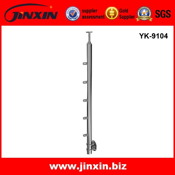 YK-9104 不锈钢立柱 钢丝绳立柱 庭院护栏 楼梯护栏