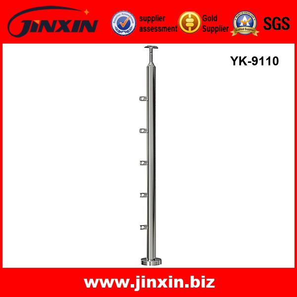 YK-9110 钢丝绳立柱 不锈钢立柱 楼梯护栏 护栏