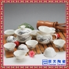 高档养生陶瓷茶具 青花瓷花卉茶具 淡雅花卉茶具定制