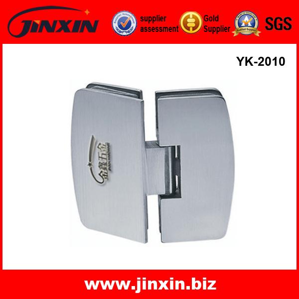 YK-2010 135度 双边 弧形 浴室玻璃合页 玻璃夹