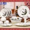 原创手工青花玲珑瓷餐具 定做日用礼品餐具套装 工艺餐具