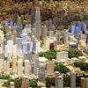 重庆城市楼盘规划沙盘模型