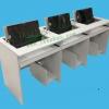 新款翻板式电脑桌 翻转电脑桌会议培训 多功能电脑桌