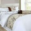 五星级酒店床单被套 高档宾馆床上纯色床单 南通布草厂家批发