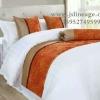 酒店宾馆床上用品 宾馆床旗床尾巾 南通布草厂家直销