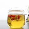 艺纳特 特厚耐热带盖玻璃杯泡花茶杯透明创意办公水杯子杯具包邮