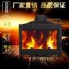 热销别墅客厅专用纽波特实木取暖欧式铸铁真火壁炉燃木内嵌壁炉芯