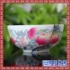 陶瓷碗红釉碗生日礼品祝寿龙凤碗寿碗散装单碗