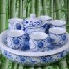 景德镇手绘盖碗茶具 手工陶瓷茶具礼品工艺品定做