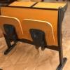 会议室培训桌椅尺寸,广东鸿美佳厂家专业定制会议室培训桌椅