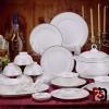 郑州陶瓷餐具批发价格,家用高档骨瓷餐具微波炉餐具批发