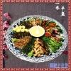 定做餐厅海鲜拼盘大瓷盘厅堂屏风装饰瓷盘