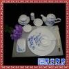 特级纯白骨瓷西式餐具套装宴会厅摆台碗盘
