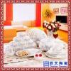 欧式陶瓷描金花边碗碟餐具组合家用骨瓷碗盘汤盅