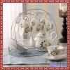 咖啡杯套装陶瓷欧式茶具下午茶茶具红茶杯碟6杯6碟带架子