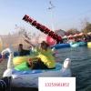 碰碰船儿童卡通广场手摇船碰碰船水上乐园充气水池电瓶碰碰船