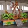 迷你电动游乐船椰树海盗船 可移动冰雪太空飞船 秋千椅游乐设备