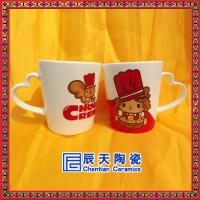 景德镇厂家定做logo广告陶瓷杯 印字马克杯 公司活动礼品