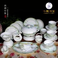 景德镇陶瓷餐具制作  中国风景德镇陶瓷餐具