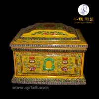 传统青花瓷骨灰盒殡葬用品骨灰罐骨灰坛