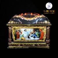 黑色陶瓷骨灰盒乌金陶瓷骨灰盒黑色骨灰盒
