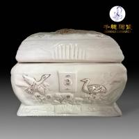 殡葬用品陶瓷骨灰盒骨灰罐骨灰坛出口厂家发货