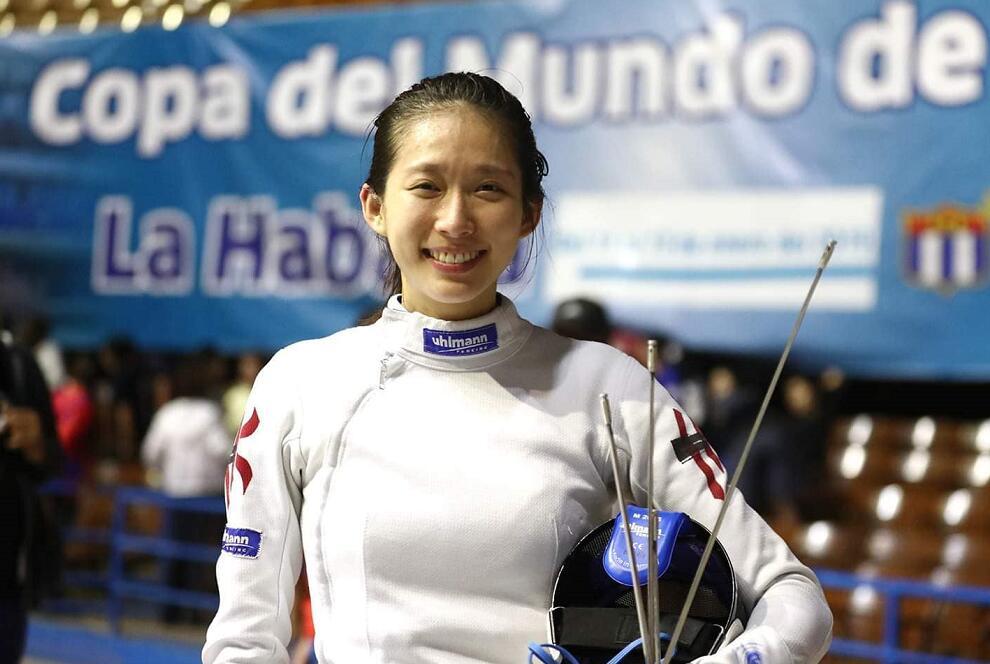 江旻憓在古巴女子重劍世界盃摘金(國際擊劍總會FB圖片)