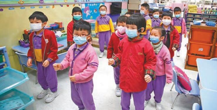 因應流感疫情嚴重,全港幼稚園及幼 兒中心提早放農曆新年假期。 資料圖片