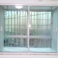 西安平开窗定制 隔热隔音门窗直销家装惠尔静铝铝钛镁合金平开窗