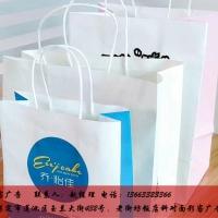 白牛纸外卖手提袋,白牛皮包装手提袋定制批发厂家