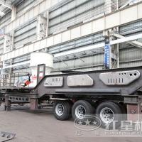 河北环保时产200吨车载移动磕石机60万可信不JYX75
